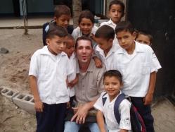 Working at a local school near Comayagua.