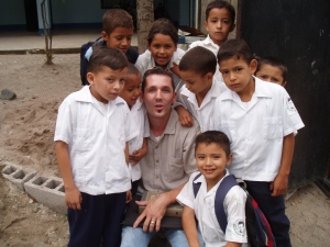 Working at a local school near Comayagua.