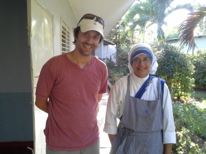 Sister Vincenta & Me after an afternoon of working with women and children who live at their home.