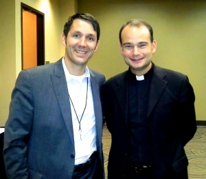 Eric Neubauer with Fr. Roderick of SQPN. The Break was integral in my conversion to the Catholic Church