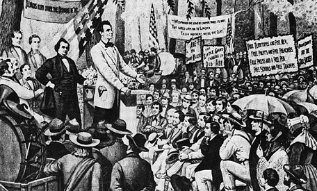 The great Lincoln Douglas Debates