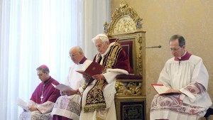 Abdicating the Office of Bishop of Rome - Successor of St. Peter.