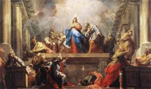 Western depiction of the Pentecost, painted by Jean II Restout, 1732