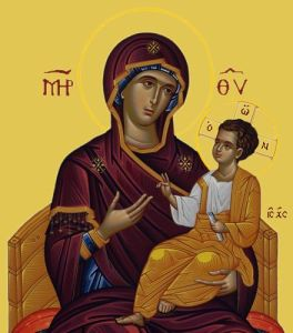 Icon: The Blessed Virgin Mary & Christ