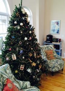 Preparing heart and home. The Neubauer family Christmas tree.
